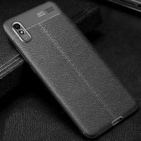 auto focus case redmi 9A tpu leather sarung hp kulit jeruk