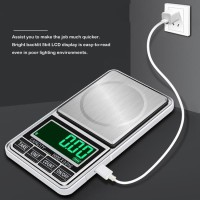Timbangan 0.01 gram USB Charge Digital Emas Scale Stainless g PS29