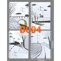 Buku Tulis Model Ring Cover Lucu B004