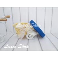 Pita Grosgrain Biru Tua Benhur 1,2 cm / 1/2 inch Hampers Kado Undangan