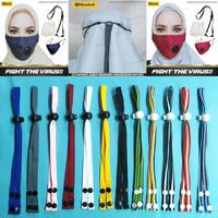 Tali Hijab / Tali Pengait Kepala / Headloop Aksesoris Masker - Biru