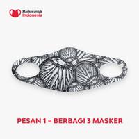 Masker untuk Indonesia x Darbotz - Kain Scuba Full Printing