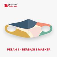 Masker untuk Indonesia x Chic&Darling - Kain Scuba Full Printing