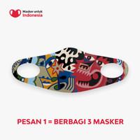 Masker untuk Indonesia x Abenk Alter - Kain Scuba Full Printing