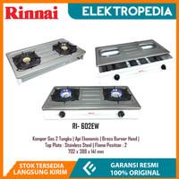 Rinnai - Kompor Gas 2 Tungku White RI602E-W / RI602EW Putih