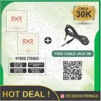 Senar Gitar REXER Acoustic Electric Hybrid 09 42 (2 Set)
