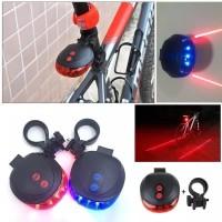 lampu sepeda laser led tail light sepeda laser plus line 4 mode murah