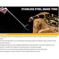 100cm stik tongkat penjepit penangkap ular reptil anti karat stainless