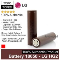 Authentic LG HG2 3000mAh 30A Battery 18650 | original batre baterai