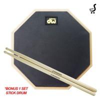 Drum Pad 10 Inch DW Drums BONUS 1 SET Stick Drumpad DPD-410 Hitam STKD