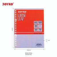 Loose Leaf / Isi Kertas File / Binder Joyko A5-7020 / 100 Lembar