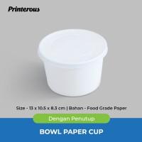 Paper Bowl / Mangkok Kertas 27 oz (800 ml) + Lid/Tutup
