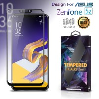 Premium Tempered Glass Asus Zenfone 5Z Full Cover Black Anti Gores