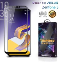 Premium Tempered Glass Asus Zenfone 5 Full Cover Black Anti Gores