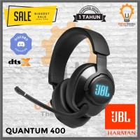 JBL Quantum 400 Ear Gaming Headset with Surround DTS Discord