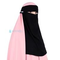 Flap Niqab Bandana Poni Pull Down Alsyahra Jetblack Edition