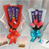 Buket bunga coklat | buket bunga hadiah wisuda | buket snack coklat - PinkKertasBlue
