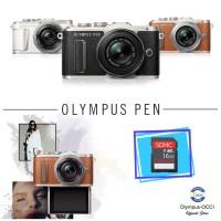 Olympus PEN E-PL8 Kit M.Zuiko 14-42mmEZ-Black, Free SD16GB