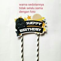 topper hiasan kue cake ulang tahun happy birthday karakter star wars