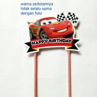 topper hiasan kue cake ulang tahun happy birthday karakter car cars