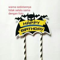 topper hiasan kue cake tart ulang tahun happy birthday karakter batman