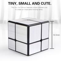 Rubik QiYi Mirror 2x2 Silver 2x2x2 Qi Yi Mirror Block Cube Perak