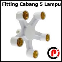 Fitting E27 Cabang 5 Lampu Bohlam Studio Fiting