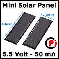 DIY Mini Solar Panel For Toy Solar Light Power Bank 5.5V 50mA