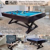 Murrey X-Factor 7ft Combo Pool PingPong Table Batu Slate Meja Billiard