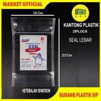 Plastik Klip Ziplock UK 14x22 SL Kemasan Berdiri/Standing Pouch @50Pcs