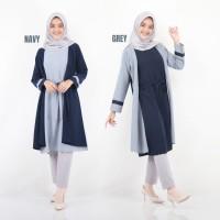 Baju Atasan Wanita Viona Tunik Baju Muslim Blouse Muslim