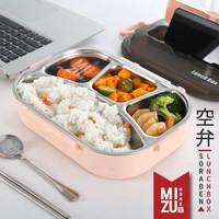 SORABEN Bento Lunch Box Kotak Makan 4 & 5 Sekat Tas Bekal Panas Steel