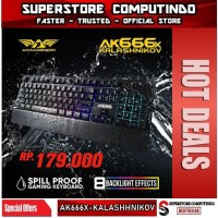 Armaggeddon AK666X KALASHNIKOV Spill Proof Membrane Gaming Keyboard