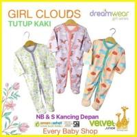 tutup kaki velvet junior dreamwear bayi pcs 3 piyama sleepsuit