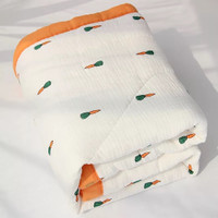 Parishkids MUSLIN BAMBOO Baby BLANKET/ SELIMUT BAYI - Carrot