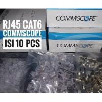 Konektor RJ45 CAT6 COMMSCOPE CAT 6 Connector Original Eceran 10pcs