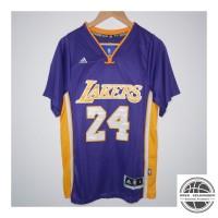 JERSEY BASKET NBA SLEEVE LAKERS #24 KOBE BRYANT UNGU ADIDAS