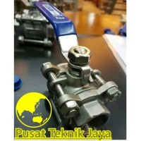 "kran air ball valve sankyo 3pc stainless steel 2""(inch) kon : drat/S"
