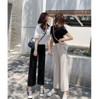 Celana Kulot Wanita Import Produk Pakaian Pants korea celana panjang - Merah