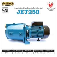 Pompa Air Listrik Sumur Dangkal Jet250 merek HONORA (Non Otomatis).