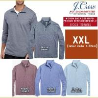 JUMB0-USA Cotton Henley Kaos Pria Wanita Lengan Panjang|Premium-NO KW