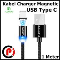 Floveme Kabel Charger Magnetic System USB Type C Panjang 1 Meter