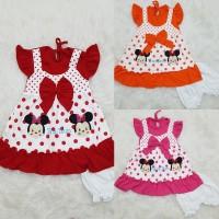 Baju Anak Bayi Perempuan Dress Semi Overall Tsum2