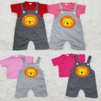 Baju Overall Anak Bayi Perempuan / Laki-laki/ Unisex Baju Kodok Lion