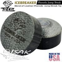 Icebreaker Cue Tip by Tiger USA Jump Break 14mm Phenolic Kepala Stick