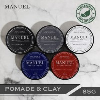 POMADE & CLAY NATURAL - MANUEL ORGANIC 85G - HAIR STYLING + NUTRITION - Abu-abu