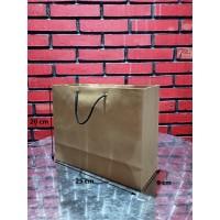 Paperbag kraf Talikur /Shopping Bag/Tas Kertas Polos-25 x9x20-Landcape