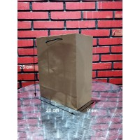 Paperbag krafTalikur /Shopping Bag/Tas Kertas Polos-20X9X25 - Potrait