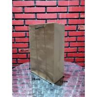 Paperbag kraft Tali kur /Shopping Bag/Tas Kertas Polos-28x15x40