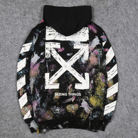 Unisex Sweater Hoodie Off White Galaxy Import Premium Quality Product
